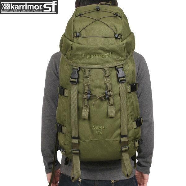 割引クーポン対象!karrimor SF カリマー スペシャルフォース Sabre 45 バッグパック OLIVE 【Sabre 45】 アフガニスタン派遣のベルギー軍に採用【WIP03】pd
