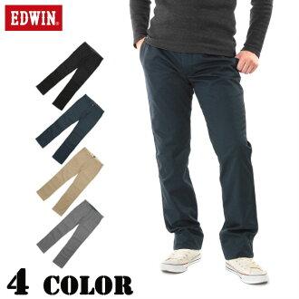 아울렛 쿠폰・포인트 변배 대상외 EDWIN 에드윈 K402 INTERNATIONAL BASIC STRETCH New Regular Fit 카키즈판트