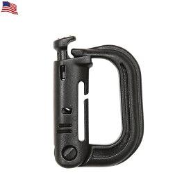 ネコポス対応 米軍使用タイプ Grimloc Carabiner (カラビナ) BLACK 米軍のモールシステムに対応した汎用カラビナ グリムロックのDリングは米軍に 官給品として採用される装備品の一つ《WIP03》【So】