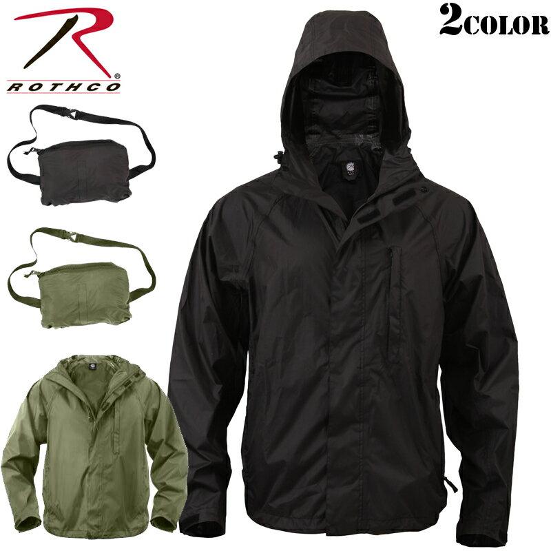 【店内10%OFFセール開催中】ROTHCO ロスコ Packable レインジャケット メンズ ミリタリー レインウェア 雨具 レインジャケット 梅雨 防水 スポーツ アウトドア《WIP03》