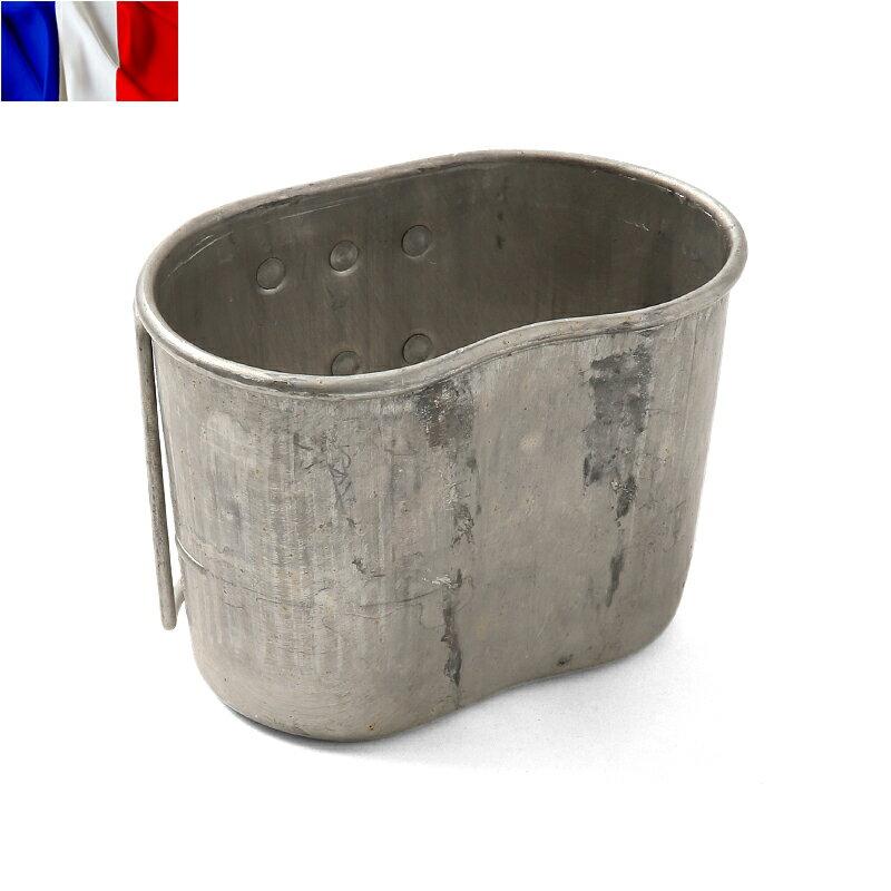 【実物25%OFFセール開催中】実物 フランス軍 1QT キャンティーンカップ アウトドア 水筒 コップ ミリタリー サバゲー 軍用品 放出品 実物 USED 《WIP03》【中古】