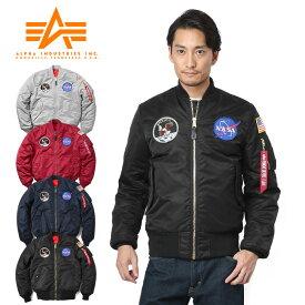 【10月中旬頃入荷予定】ALPHA アルファ TA0113 NASA APOLLO MA-1 フライトジャケット JAPAN FIT《WIP03》【Sx】【予】アウター メンズ ブランド ミリタリー 防寒