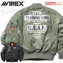 【30日12:59まで】今ならポイント10倍!AVIREX アビレックス 6192216 MA-1フライトジャケット CUSTOM GRAPHIC USAF【クーポン対象外】