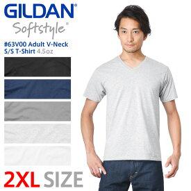 【メーカー取次】【2XLサイズ】GILDAN ギルダン 63V00 4.5oz アダルト Vネック 半袖Tシャツ Japan Fit【Sx】