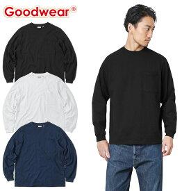 【店内20%OFFセール開催中】Goodwear グッドウェア 2W7-8518 L/S 四角ポケット Tシャツ