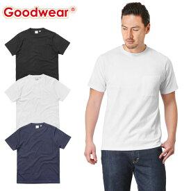 【店内20%OFFセール開催中】Goodwear グッドウェア 2W7-2500 S/S 四角ポケット Tシャツ