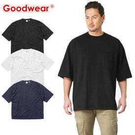 【店内20%OFFセール開催中】Goodwear グッドウェア 2W7-2501 S/S 四角ポケット Tシャツ SUPER BIG