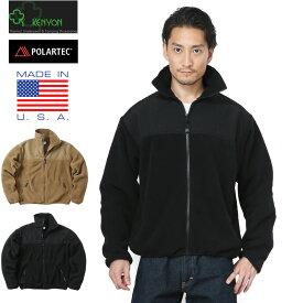 【店内20%OFFセール開催中】KENYON ケニヨン MADE IN USA 米軍使用 ECWCS POLARTEC TASLON フリースジャケット