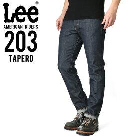 【15%OFFクーポン対象!】Lee リー AMERICAN RIDERS 203 テーパード デニムパンツ ダークインディゴ【LM5203-500】
