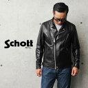 【国内正規品】Schott ショット 3101048 ダブル ブレスト ライダースジャケット【クーポン対象外】 / メンズ レディース 革ジャン ジャケット 黒 BLACK ブラック おしゃれ かっこ