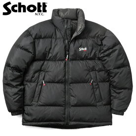 【26日 12:59】今ならポイント10倍Schott ショット 3192045 ナイロン ハイブリッド ダウンジャケット【クーポン対象外】