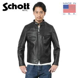 【ポイント10倍】【国内正規品】Schott ショット 7009 641XX 60s シングルレザーライダースジャケット(クーポン対象外)