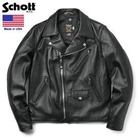 【10月中旬入荷予定】Schott ショット 228US ラムレザー ライダースジャケット【7525】(クーポン対象外)【予】