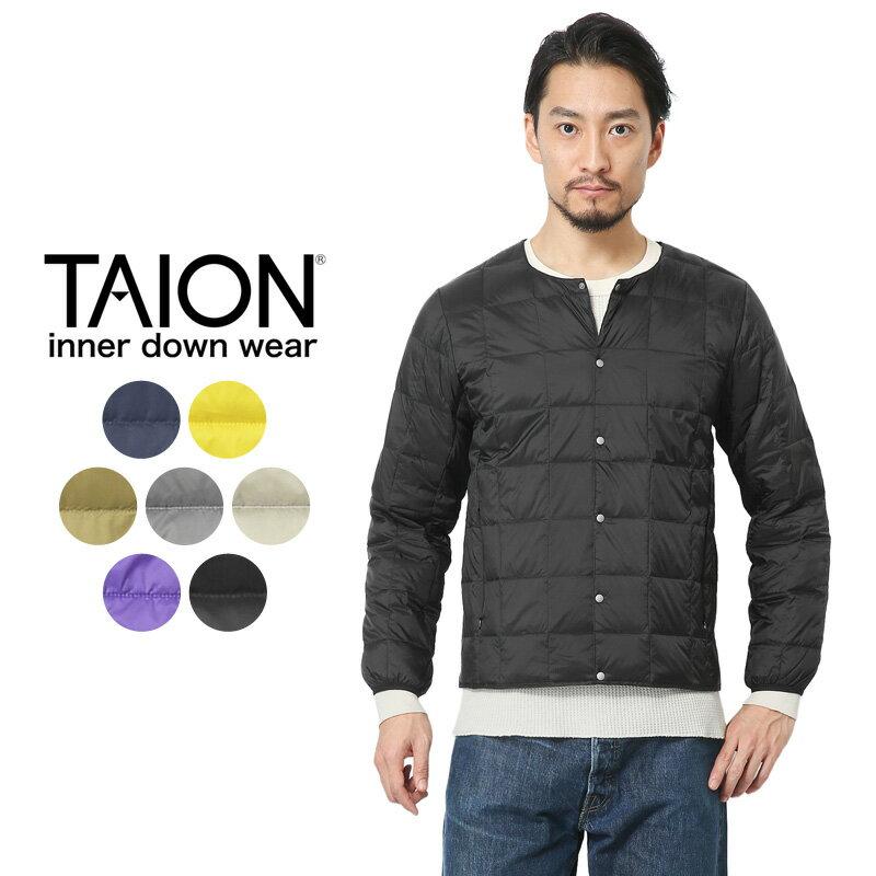 TAION タイオン TAION-104 クルーネック インナーダウンジャケット MENS【Sx】メンズ 中綿 アウトドア 暖かい 薄手 男性