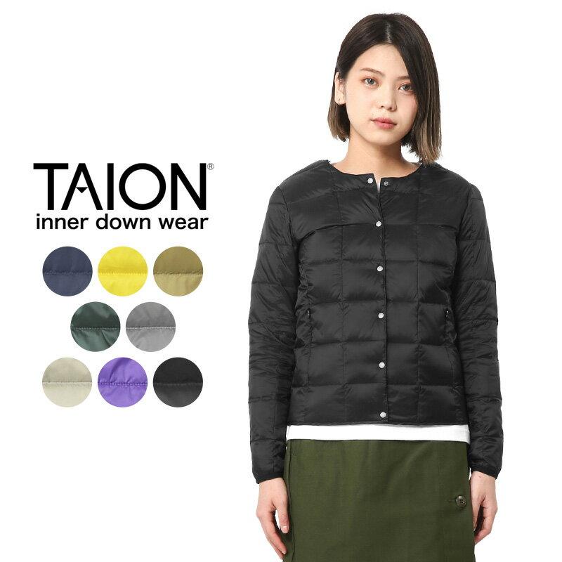TAION タイオン TAION-104 クルーネック インナーダウンジャケット WOMAN【Sx】レディース 中綿 アウトドア 暖かい 薄手 女性