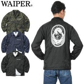 WAIPER.inc 1819111 HANDSHAKE? NO-WAR バックロゴ ナイロン コーチジャケット【Sx】