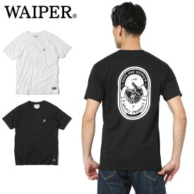 WAIPER.inc 1819001 HANDSHAKE? NO-WARプリント Tシャツ【Sx】