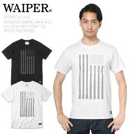 """WAIPER.inc 1819007 """"PATRIOTIC BARREL M4&M16"""" S/S クルーネック プリントTシャツ REFLECTIVE【Sx】"""
