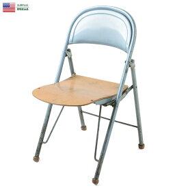 実物 米軍 American Seating製 1940's フォールディングチェア USED【個別送料】【クーポン対象外】