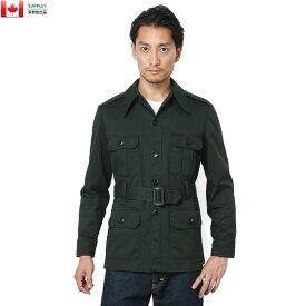 【クーポン利用で20%OFF】実物 USED カナダ軍 4ポケット BUSH ジャケット