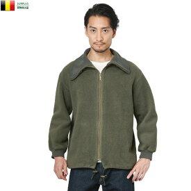 【クーポン利用で20%OFF】実物 ベルギー軍 コールドウェザー フリースジャケット USED