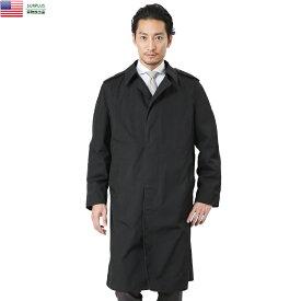 実物 USED 米軍 U.S. NAVY ブラックステンカラーコート ライナー無し【34〜40サイズ】【クーポン対象外】