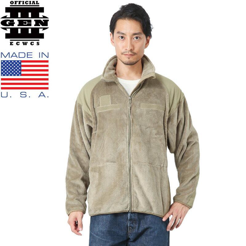 【店内20%OFFセール開催中】MADE IN USA FR-HQ製 ECWCS GEN3 フリースジャケット COYOTE TAN