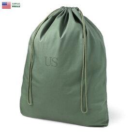 実物 新品 米軍 OD コットンサテン ランドリーバッグ【クーポン対象外】《WIP03》デッドストック アメリカ軍 リメイク 生地 素材 大容量 巾着 袋