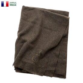 実物 USED フランス軍 ウールブランケット