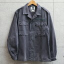 実物 USED ドイツ軍 グレー フィールドジャケット【クーポン対象外】