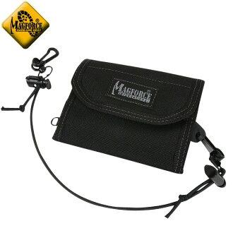 MAGFORCE 찻잔 포스 MF-0253 Multi Purpose Wallet Black 3 접는 타입 평면 밀리터리 장 지갑 도난 예방에 유용한 엘라 스틱 코드