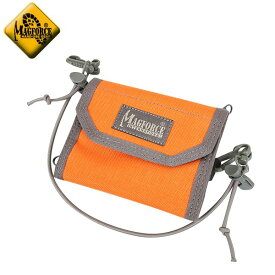 【店内15%OFFセール開催中】MAGFORCE マグフォース MF-0253 Multi Purpose Wallet Orange/FGW 3つ折りタイプの薄型ミリタリーウォレット 盗難防止対策に便利なエラスティックコード付き