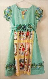 c5cfc73e04e52 子供服 ワンピース 女児 半袖 パフスリーブ・ドール・ワンピース ブルー