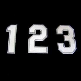 【プロ野球 阪神タイガースグッズ】胸番号ワッペン(2014年版・ビジター)