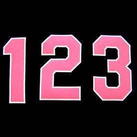 【プロ野球 阪神タイガースグッズ】背番号ワッペン(2014年版・ピンク)