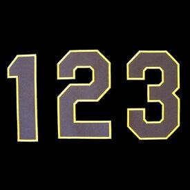 【プロ野球 阪神タイガースグッズ】背番号ワッペン(2014年版・イエロー)