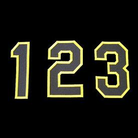 【プロ野球 阪神タイガースグッズ】胸番号ワッペン(2014年版・イエロー)