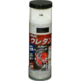 アサヒペン スプレー塗料 弱溶剤型2液 ウレタンスプレー 300ml ツヤ消し黒 B