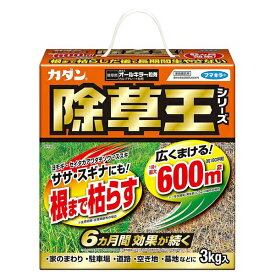 フマキラー 除草剤 カダン除草王オールキラー粒剤3kg×6箱(ケース販売) A