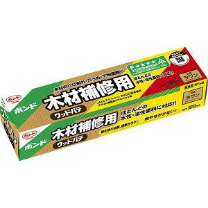 コニシ 木材補修用 ウッドパテ ラワン 120ml ×10個 小箱