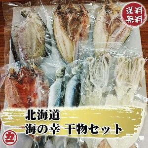 北海道 海の幸 干物セット (サクラマス×1、真ホッケ×2、いか一夜干し×2、にしん×2、なめたかれい×1) 全国送料無料 冷凍