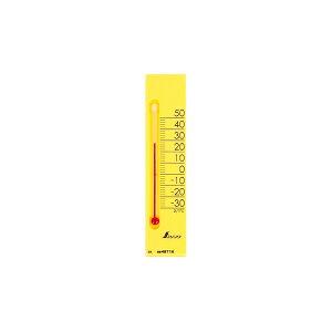 シンワ測定 温度計 プチサーモ スクエア たて マグネット付 イエロー 13.5cm 48716