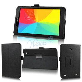 【タッチペン・OTGケーブル・フィルム付】 wisers LG G Pad 8.0 V480 & L Edition LGT01 / J:COM タブレット 専用 ケース カバー 改良版 全6色 ブラック・ダークブルー・スカイブルー・ローズ・ホワイト・ダークブラウン