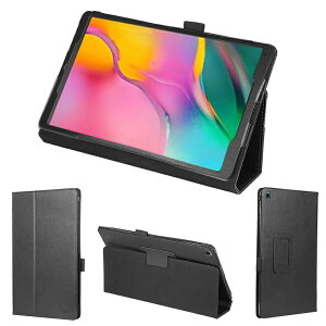 wisers タッチペン・保護フィルム付 タブレットケースSamsung Galaxy Tab A J:COM [2019 2020 年 新型] 10.1 インチ タブレット 専用 ケース カバー 全4色 ブラック・ダークブルー・スカイブルー・ピンク