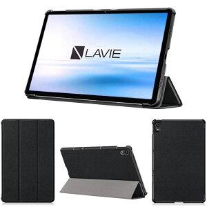 wisers 保護フィルム付き タブレットケース NEC LAVIE T11 T1175/BAS PC-T1175BAS 11インチ 専用 超薄型 スリム ケース カバー [2021 年 新型] 全3色 ブラック・ダークブルー・ローズゴールド