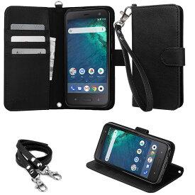 【ストラップ2種付】wisers HTC U11 Life ワイモバイル Y!mobile アンドロイドワン android one X2 5.2 インチ [ 2017 年 新型 ] [ 2018 年 新型 ] スマートフォン スマホ 専用 手帳型 ケース カバー 全4色 ブラック・ダークブルー・ローズゴールド・ゴールド