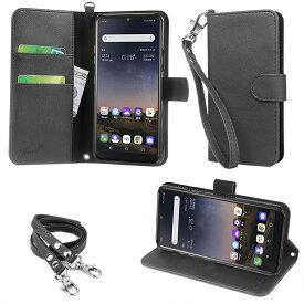 wisers ストラップ2種付き スマホケース SoftBank LG K50 専用 手帳型 スマートフォン スマホ ケース カバー オリジナルハンドストラップ&ネックストラップ付き 全4色 ブラック・ダークブルー・ローズゴールド・ゴールド