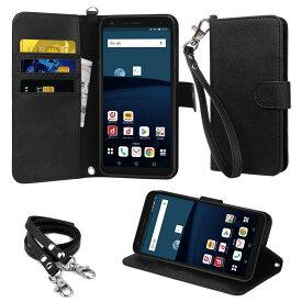 【ストラップ2種付】wisers LG Style L-03K 専用 LG ドコモ docomo 5.5インチ [2018 年 新型] スマートフォン スマホ 専用 ケース カバー 手帳型 全6色 ブラック・ホワイト・ダークブルー・スカイブルー・ローズゴールド・ゴールド