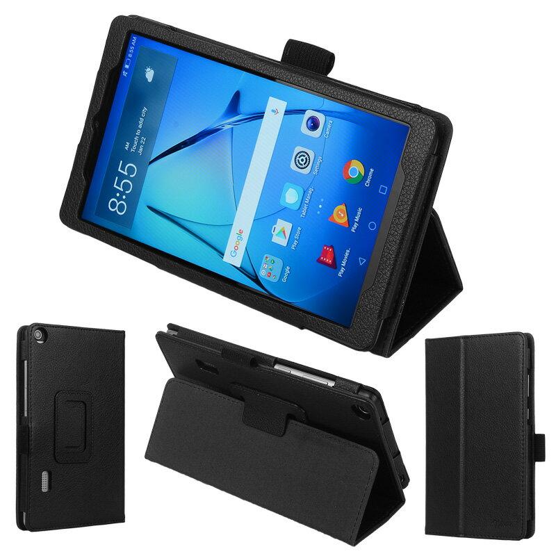 【タッチペン・保護フィルム付】 wisers Huawei MediaPad T3 7 BG02-W09A [2017 年 新型] 7.0インチ タブレット 専用 ケース カバー 全5色 ブラック・ダークブルー・スカイブルー・ピンク・ゴールド