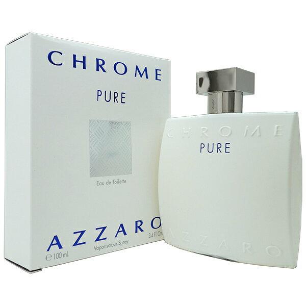 アザロ AZZARO クローム ピュア EDT SP 100ml AZZARO Chrome Pure Eau de Toilette【あす楽対応_14時まで】【香水 メンズ】【新生活 印象】